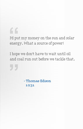 Thomas Edison on Solar Energy